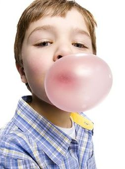Kid chewing gum