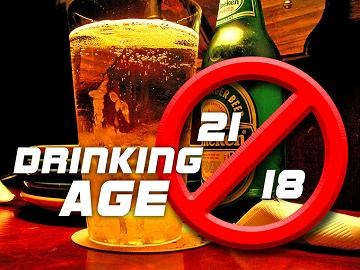 the reasons why we need to lower the drinking age to 18 Drinking: 18 vs 21 cr's main goal is to lower the drinking age to 18 we need the us constitution to catch up with modern scientific research.