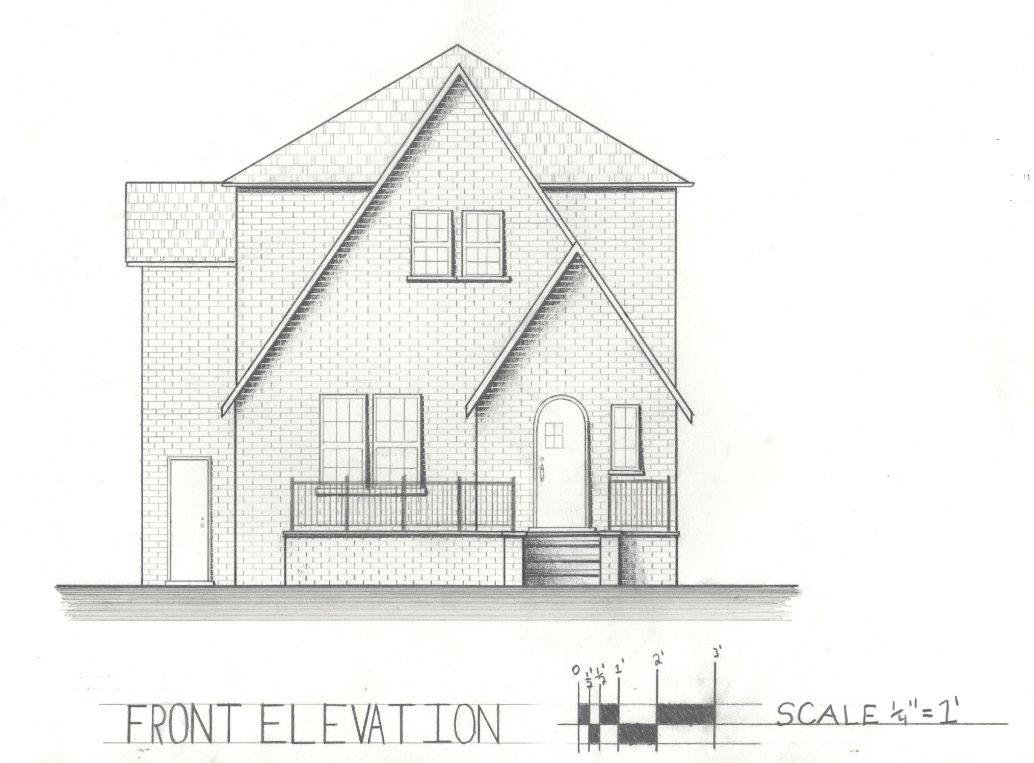 Simple Front Elevation Drawing : Front elevation arches joy studio design gallery best
