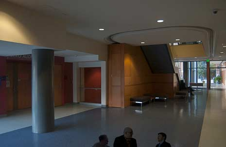 Photo of Berg Auditorium in the Life Science Building.