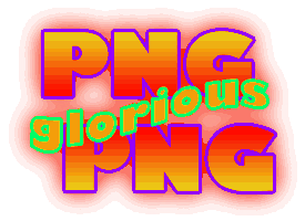 PNG from Fireworks saying PiNG glorious PiNG.
