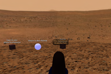 Standing in Martian Crater