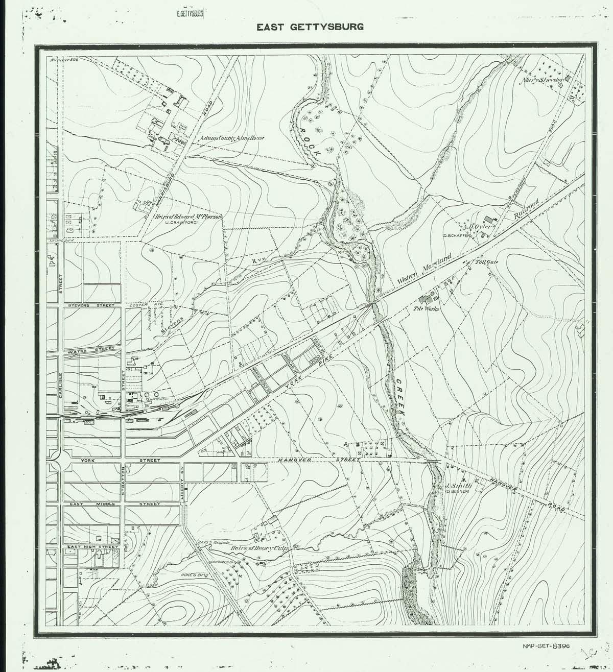 Gettysburg Topographic Map.Weekly Resources