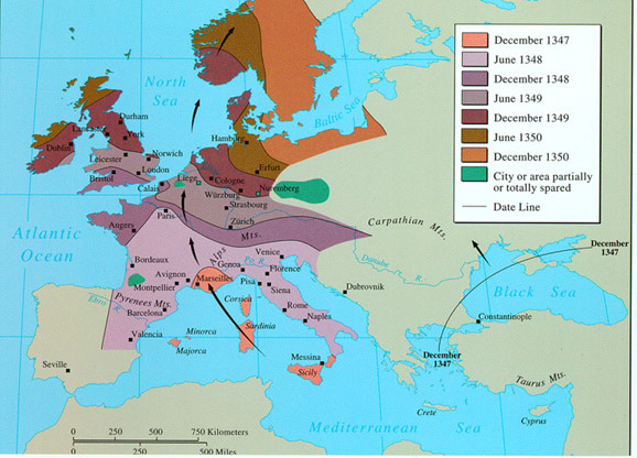 the dangers and effects of the bubonic plague in the middle ages