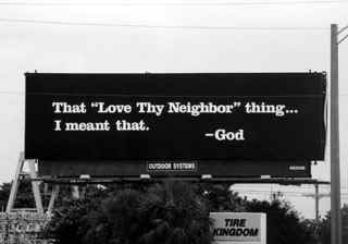 God billboard