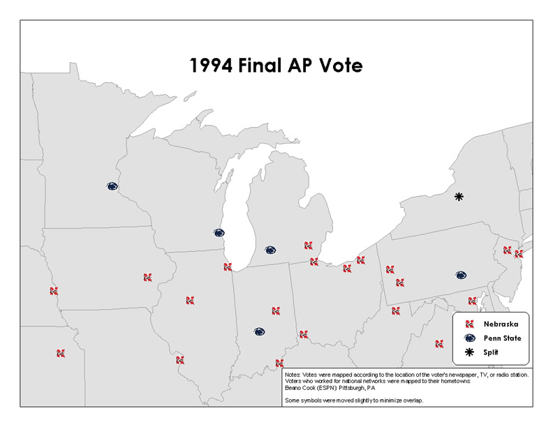 '94 AP Vote - Big 10