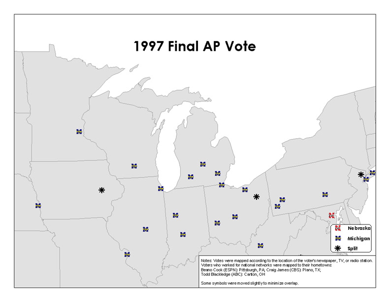 '97 AP Vote - Big 10