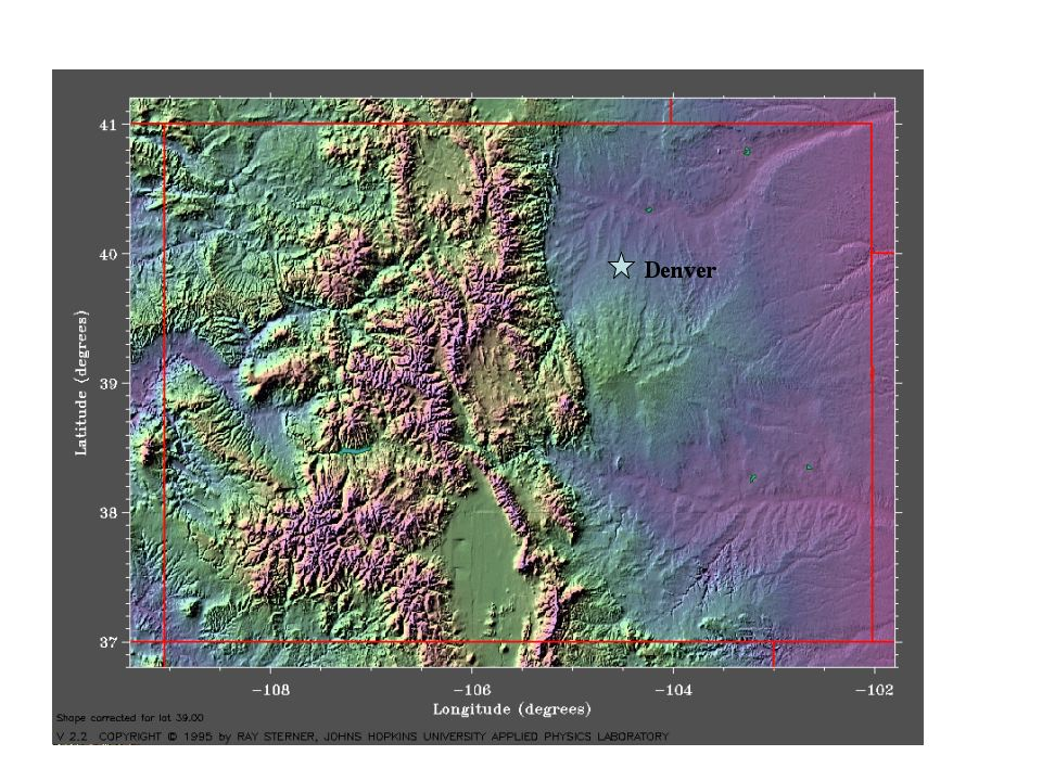 Map Of Colorado Elevation