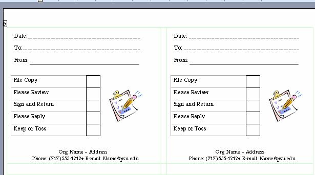 Templates can get you started for Office routing slip template