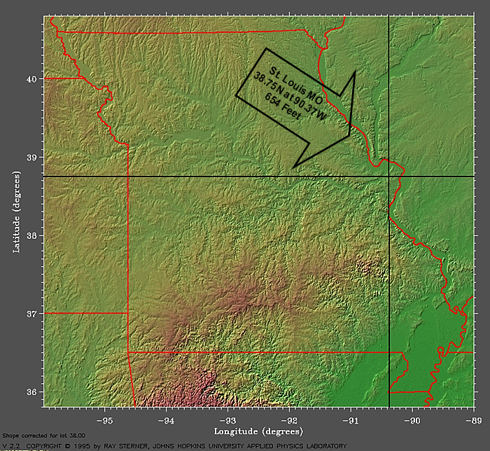 topographic maps of missouri. This is a topographical map of
