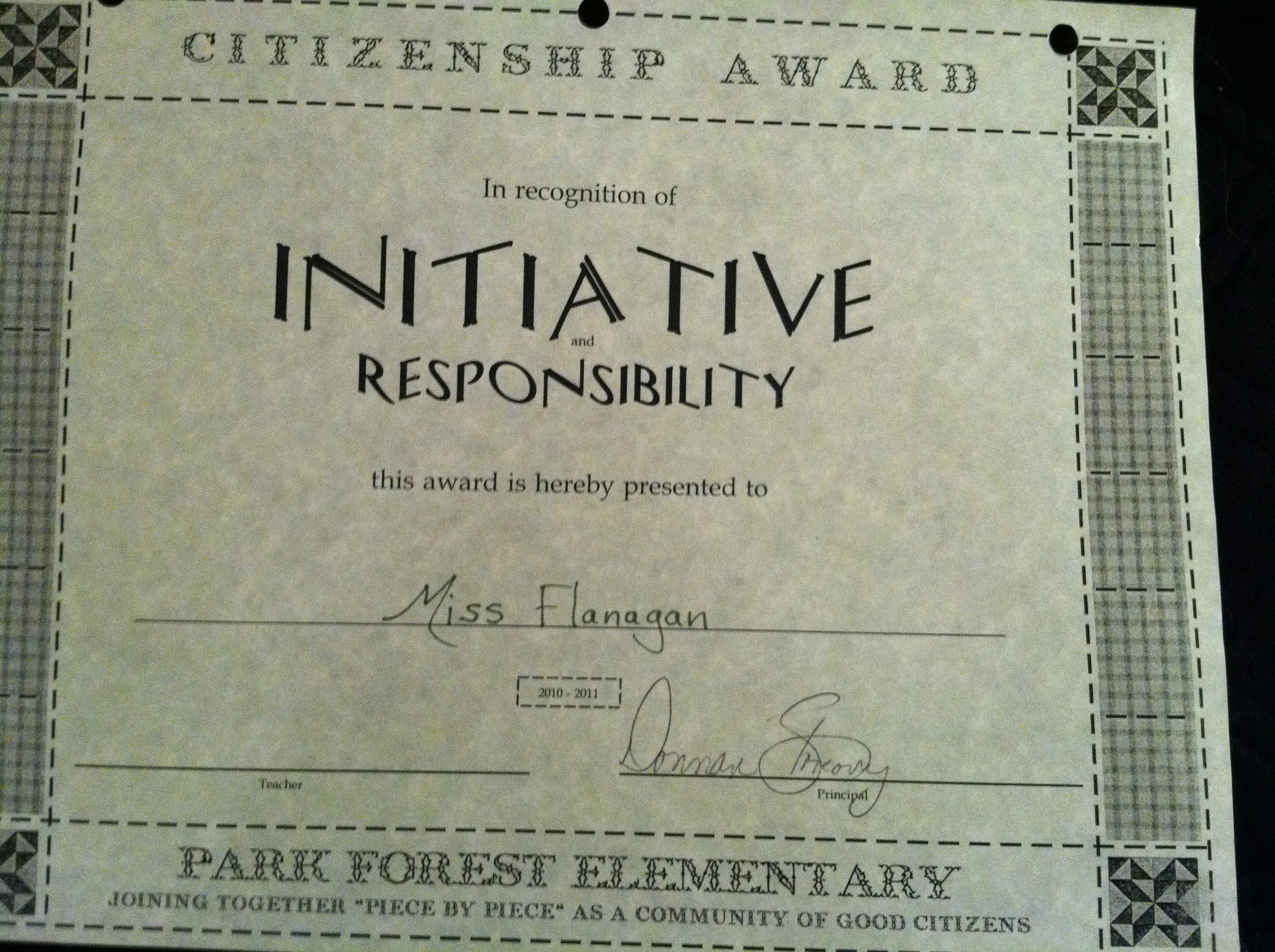 Certificate For Citizenship Kelly Flanagans Portfolio