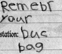 Remember your book bag.