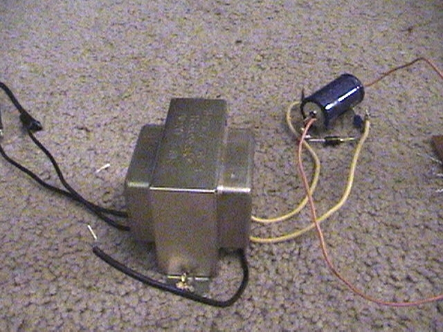 plasma ball power supply rectifier and step down transformer