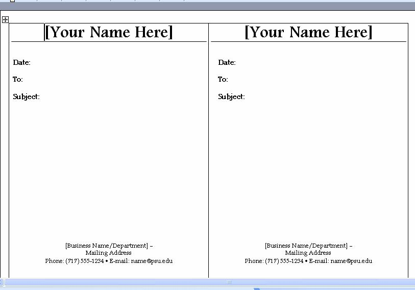 interoffice mail template