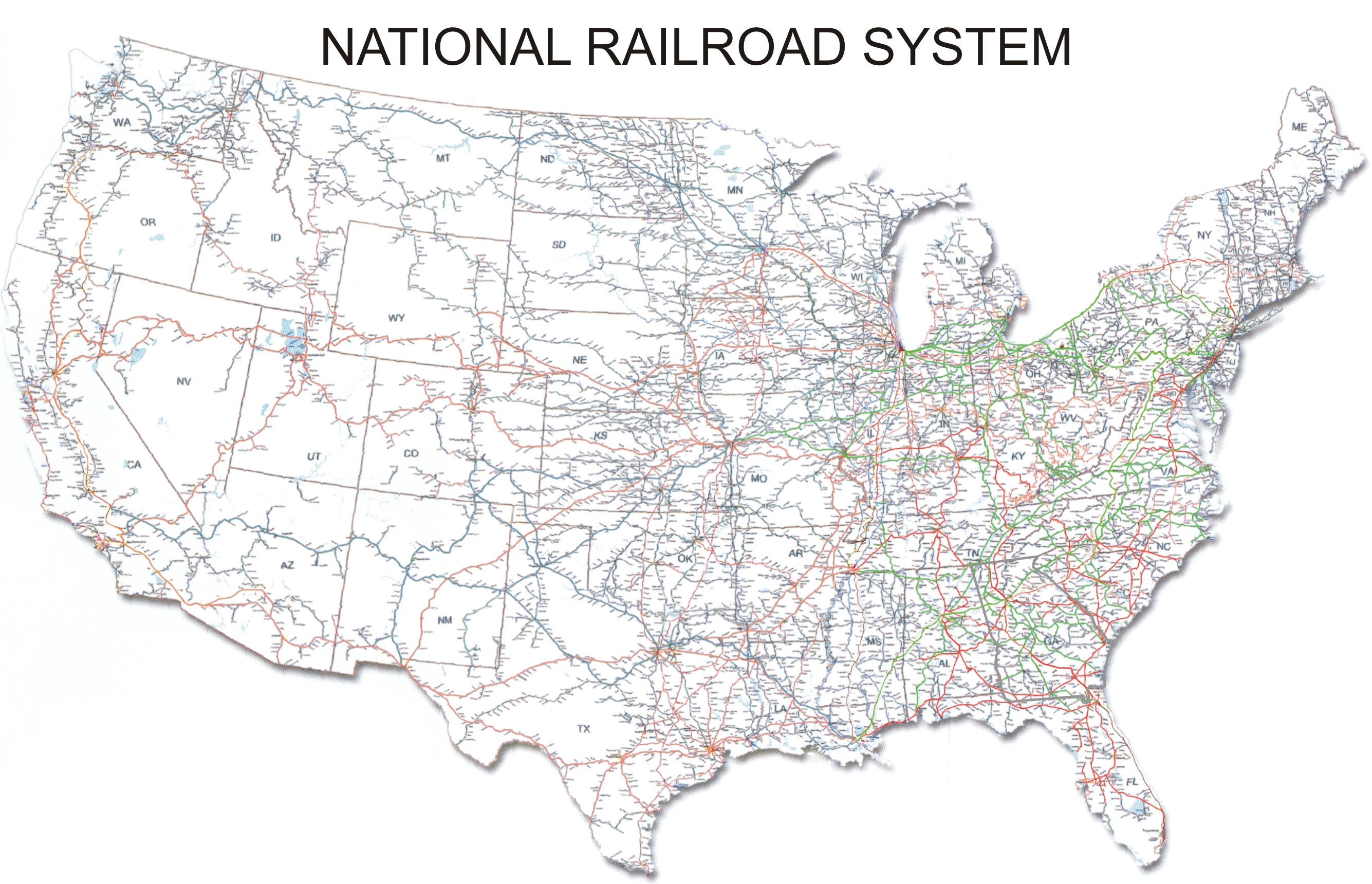Major Vulnerabilities To Railway Security - Map of us railways