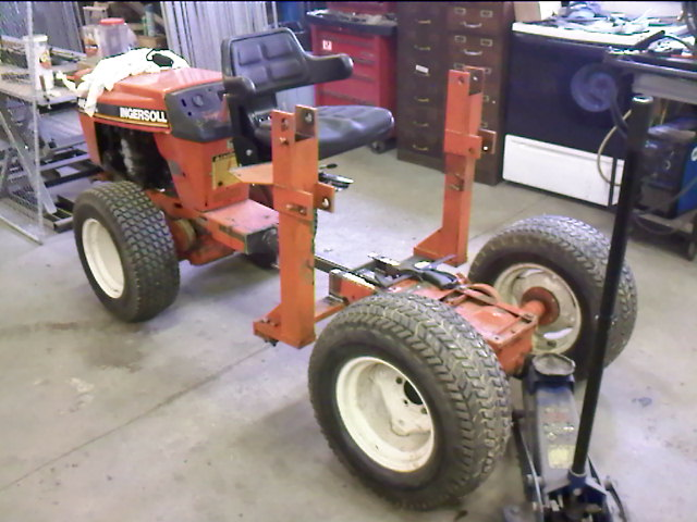 birth of a 4wd articulated garden tractor - Garden Tractor Front End Loader Kits