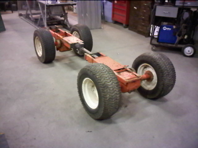 Lawn Tractor Frames : Birth of a wd articulated garden tractor