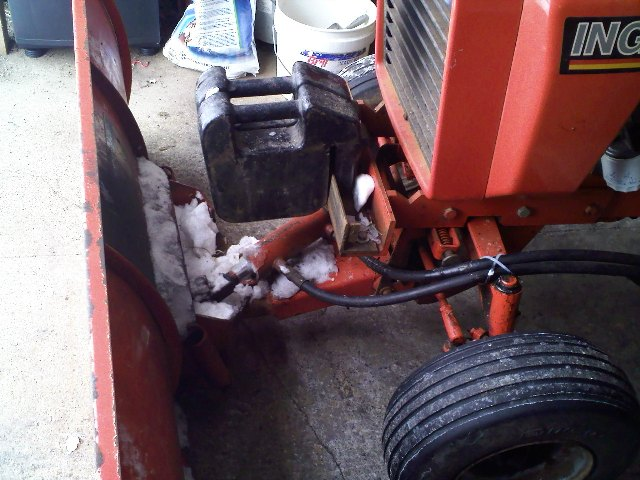 Tractor Front End Weights : Ingersoll snow plowing improvements mytractorforum
