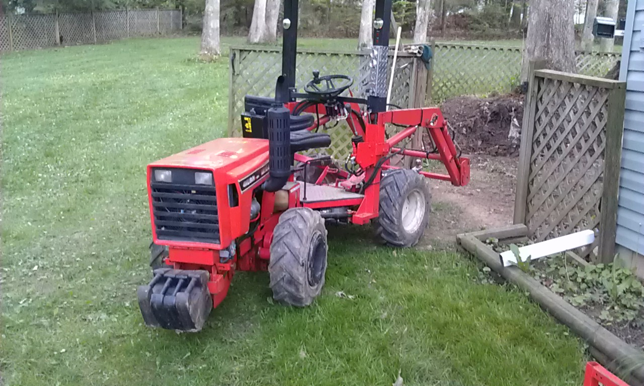 Home Built Articulating Garden Tractor : Home built articulated loader tractor page