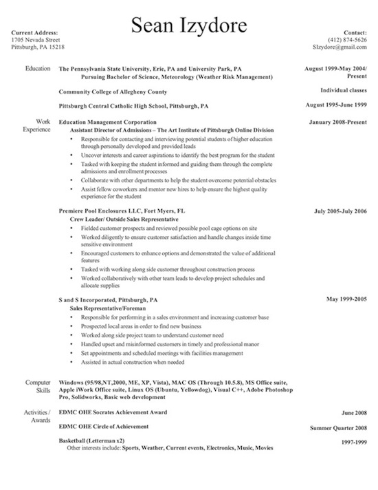 Resume Meteorology