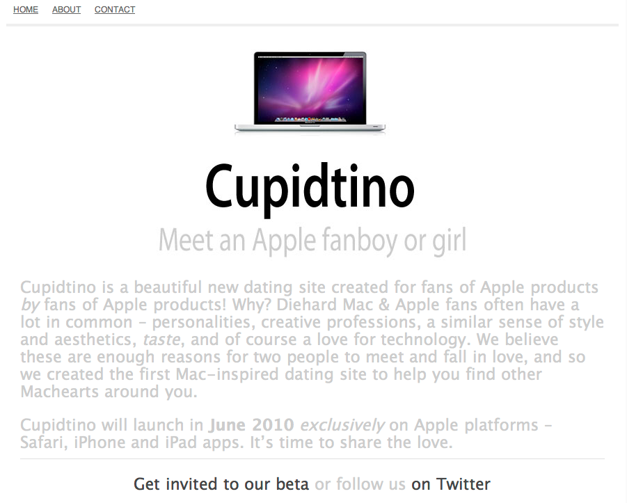 Cupidtino Screen Shot