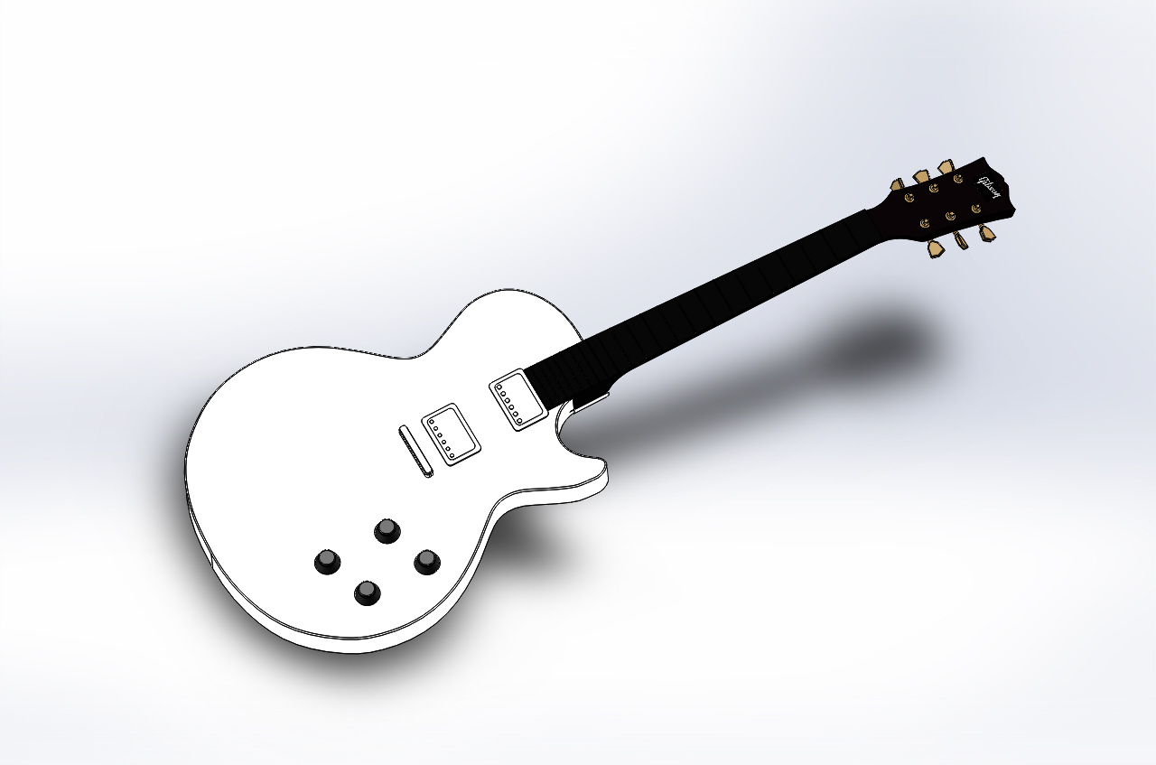 Gibson Les Paul SolidWorks Model