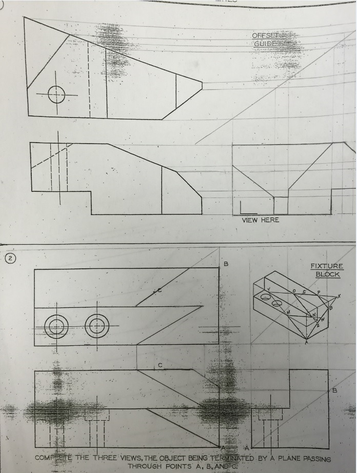 Section Views Technical Drawings