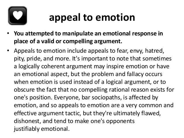 logical appeals in an essay Writing a paper: avoiding logical fallacies  this is usually presented as your essay's thesis statement support (also known as the minor premise).