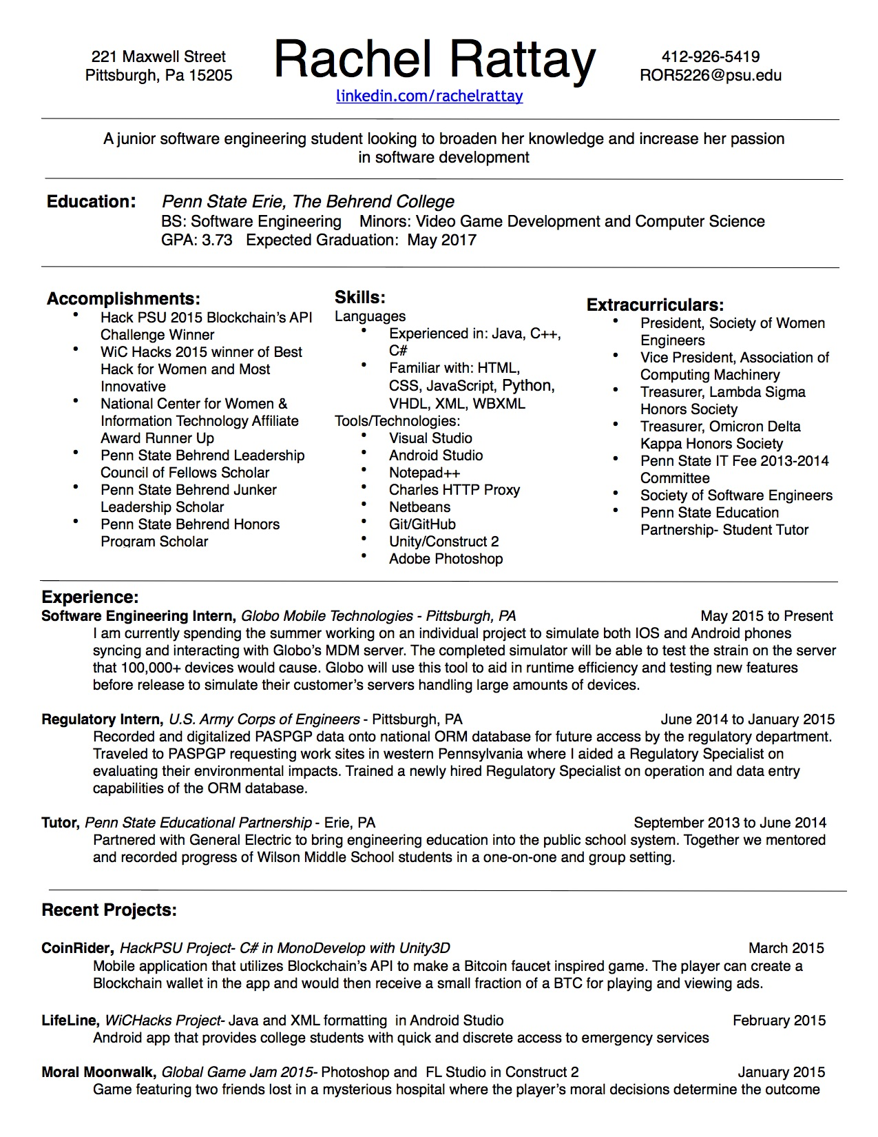 Penn career services resume help