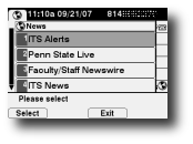 News and Alerts main screen