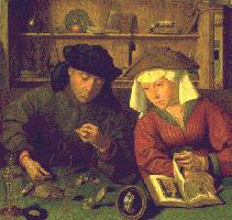 Quentin Metsys, Moneychanger and his Wife, 1514